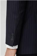 Navy Pinstripe Suit