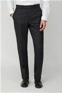 Charcoal Birdseye Suit Trousers