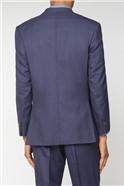 Esteem Blue Sharkskin Suit Jacket
