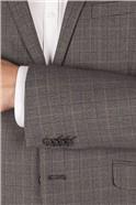 Grey Heritage Check Slim Fit Jacket