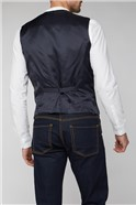 Navy Textured Waistcoat