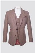 Berry Dogtooth Waistcoat