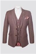 Burgundy & White Striped Jacket