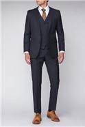 Blue Black Pindot Premier Fit  Suit