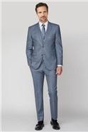 Light Blue Sharkskin with Tan Overcheck Trouser
