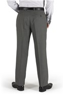 Grey Micro Design Suit Trouser