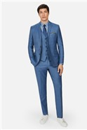 Light Blue Pick and Pick Suit Trousers