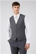 Charcoal Panama Slim Waistcoat