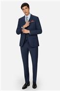 Blue Panama Skinny Suit Trousers