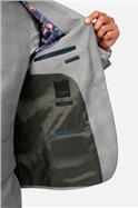 Light Grey Blue Check Slim Fit Suit