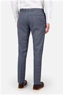 Light Blue Tan Check Skinny Fit Suit