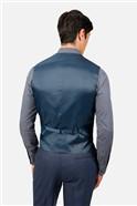 Airforce Blue Flannel Regular Fit Waistcoat