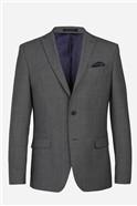 Grey Blue Textured Slim Waistcoat