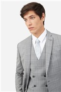 Light Grey Tonal Checked Suit Trousers