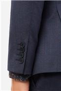 Navy Berry Checked Waistcoat