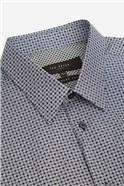 Navy Cube Geometric Print Shirt