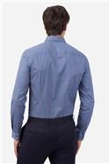 Blue Tonal Floral Print Shirt