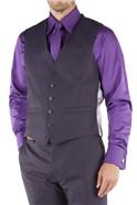 Purple Pick and Pick Tailored Fit Waistcoat
