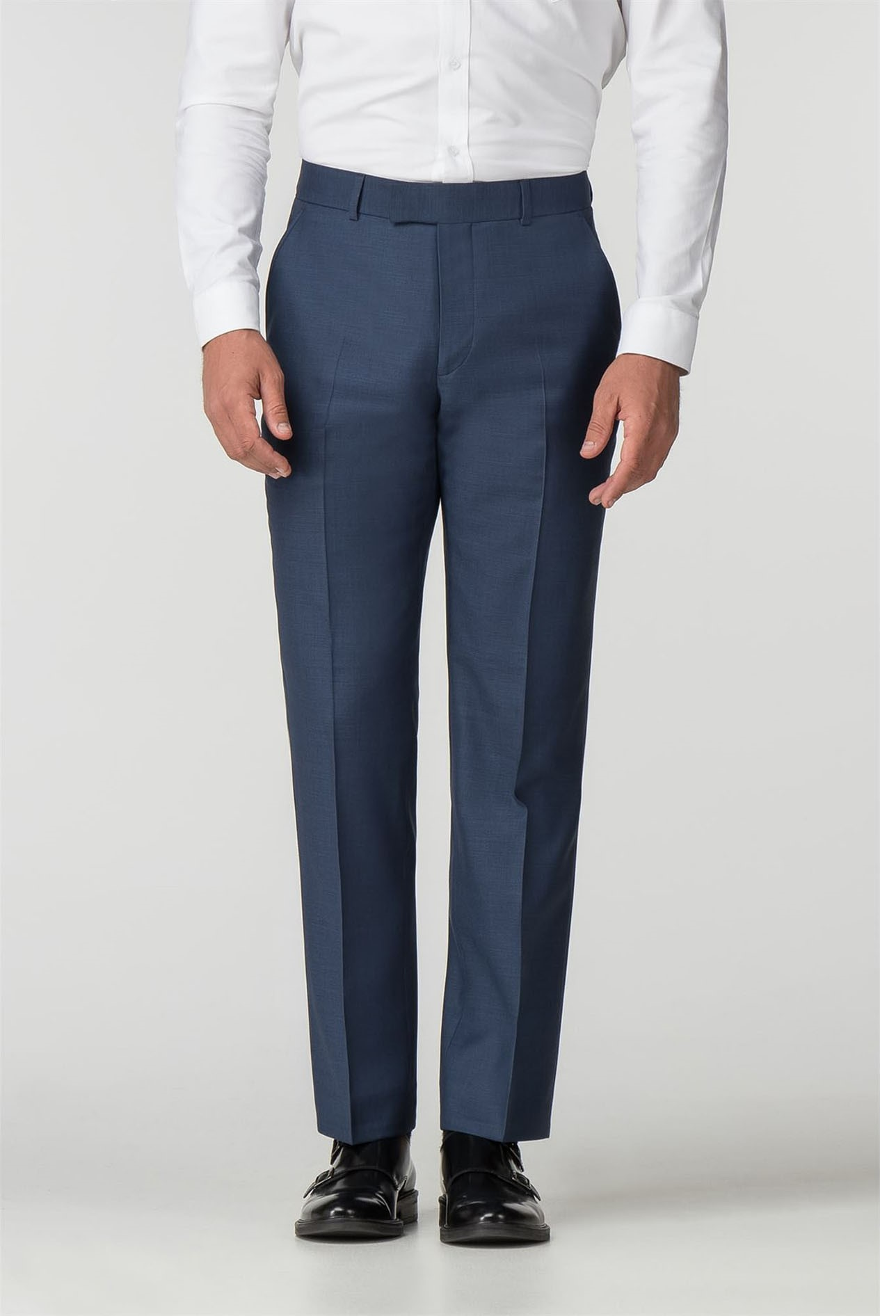 Alexandre Silver Label Mens Blue Suit Trouser in 30R to 42R