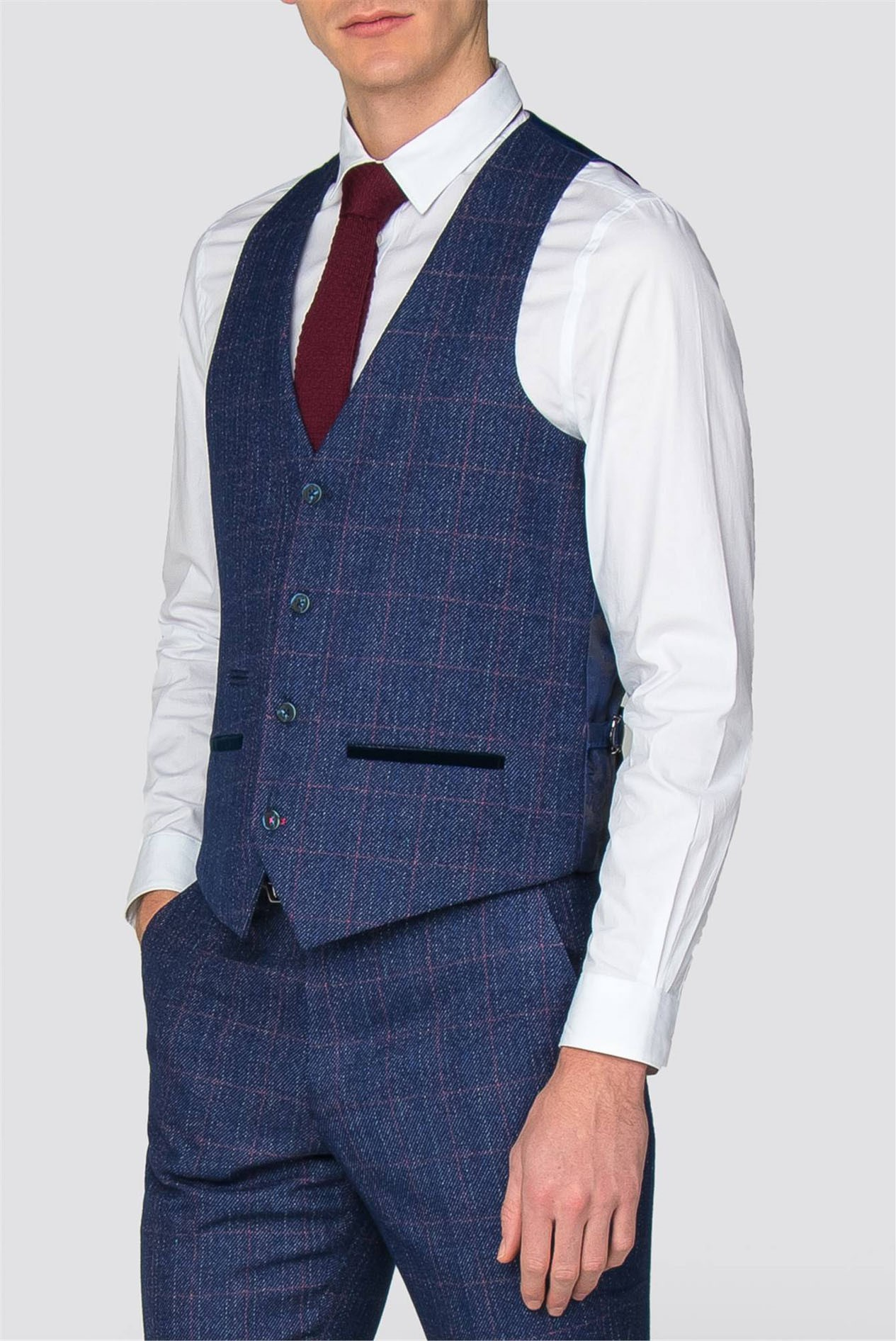 Mens Single Breasted Waistcoat Black Marc Darcy Slim Fit Formal Tailored Vest